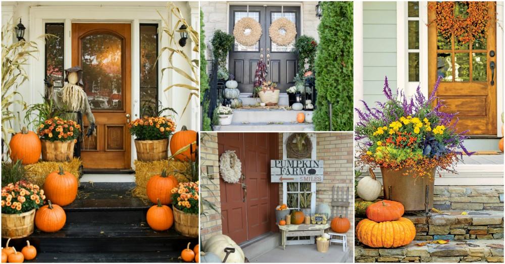 Heartwarming fall porch decor ideas that anyone can make - Fall porch decorating ideas ...