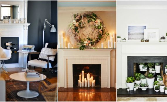 Fireplace Decor Ideas For When You Are Not Using It
