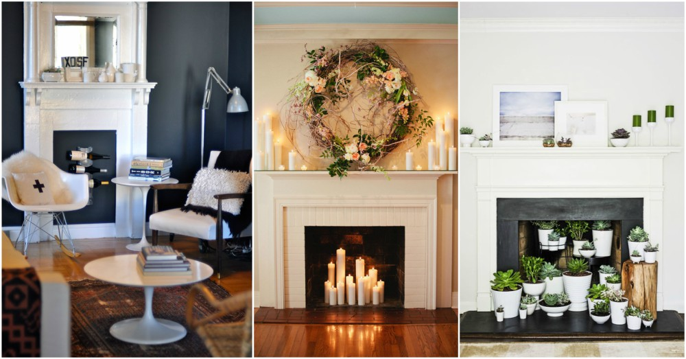 45 Fireplace Decoration Ideas So Can You The Creative: Fireplace Decor Ideas For When You Are Not Using It