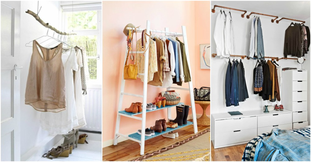 You won 39 t miss a closet with these brilliant clothing - Clothing storage ideas no closet ...