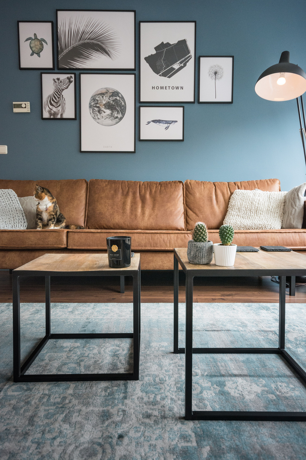 Blauwe Design Bank.Home Decor Guide How To Choose The Right Colors
