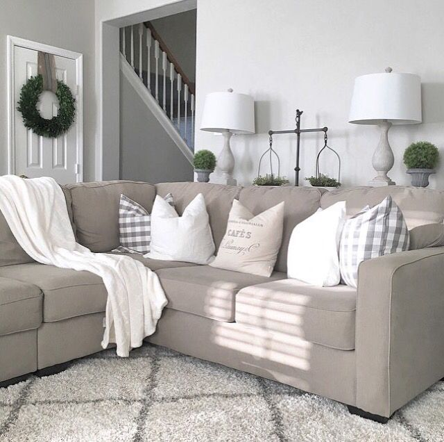 throw pillows - Neutral Living Room
