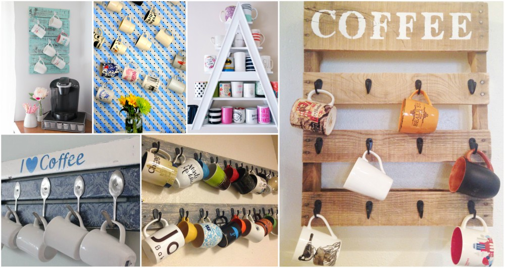 Superieur Astonishing DIY Coffee Cup Storage Ideas That Will Amaze Every Coffee Addict