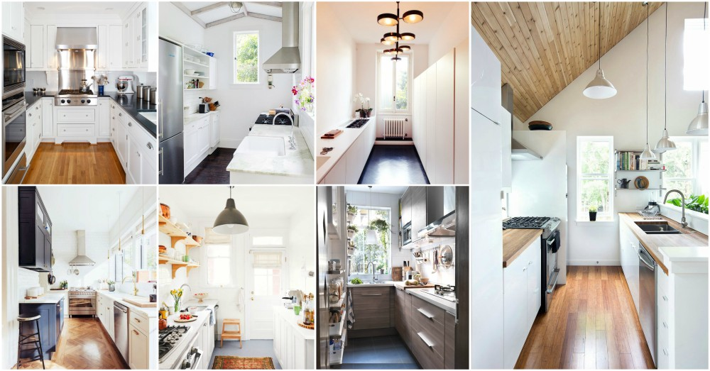 Narrow Kitchen Designs To Use The Space In An Efficient Way