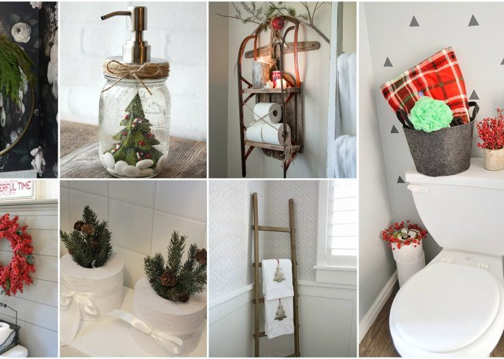 stunning christmas bathroom decor ideas to get in the holiday mood - Christmas Bathroom Decor Ideas