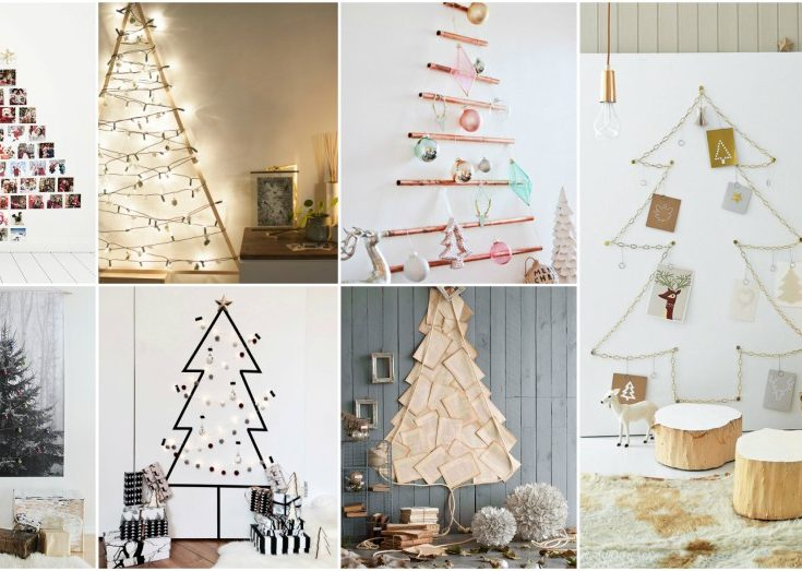 Christmas Tree Alternative.Alternative Christmas Tree Ideas For Decorating On A Budget