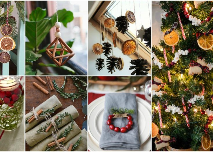 simple and natural christmas decor that anyone can make