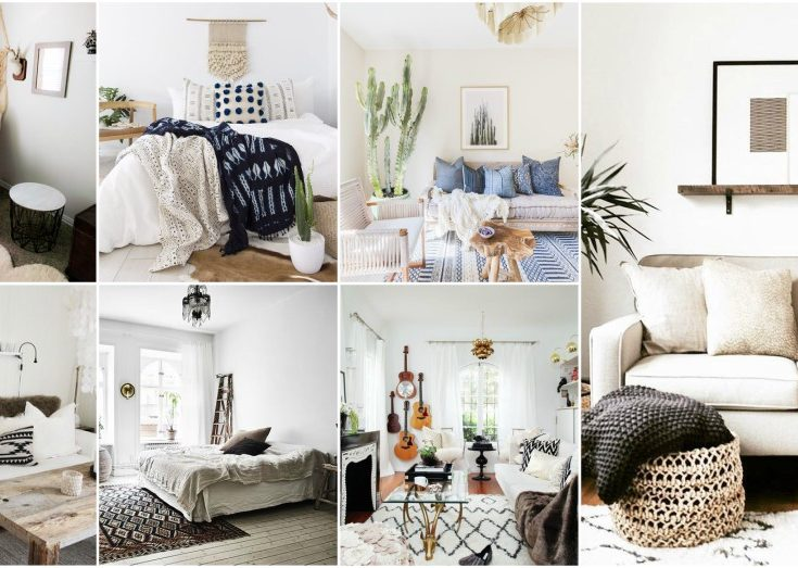 Neutral Bohemian Interiors That Implement The Famous Trend In A Subtle Way