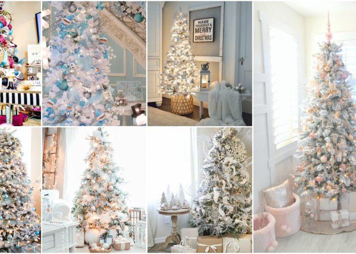 All White Christmas Tree Ideas.Stunning White Christmas Tree Ideas To Make Yours Shine