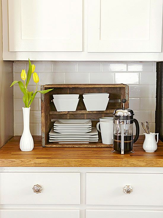 Wooden Crates In Kitchen A Brilliant Idea To Add Extra