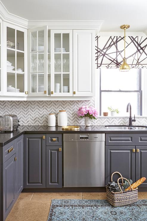 How To Style Your Glass Front Kitchen Cabinets In A