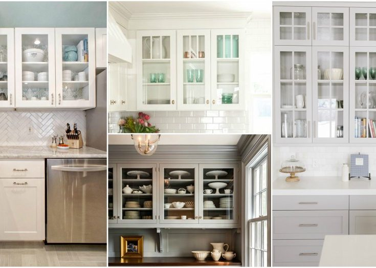 missisauga kichen cabinet glass styles | How To Style Your Glass-Front Kitchen Cabinets In A ...