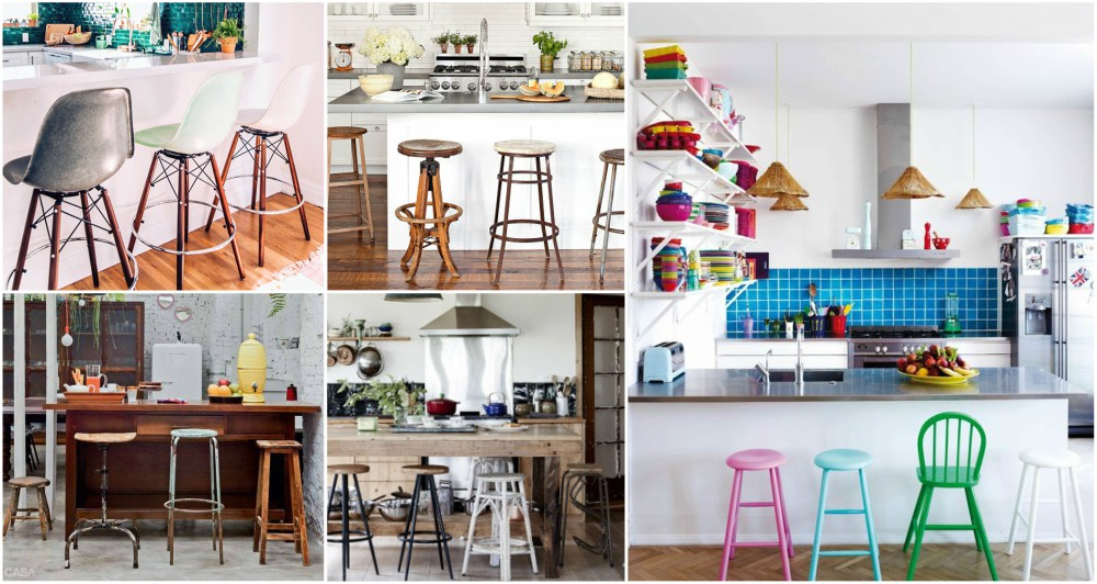 Mismatched Bar Stools To Enhance Your Kitchen In A