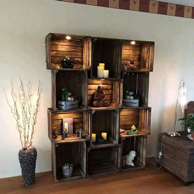 Wooden Crate Shelving Ideas That Will Make You Say Wow