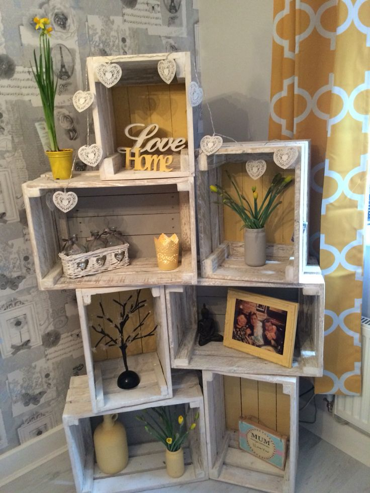 crate wooden shelving crates wow say corner them