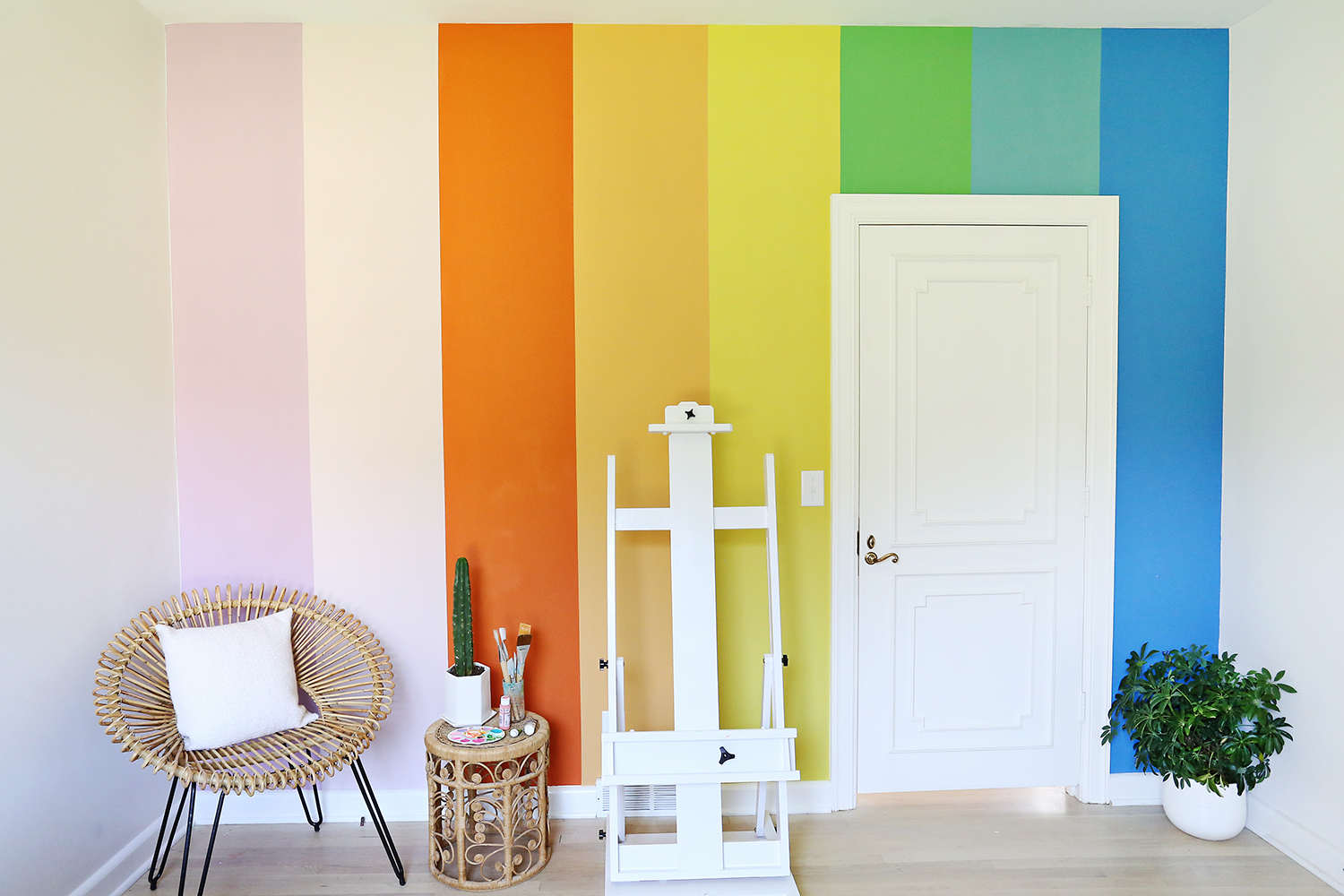 Easy DIY Accent Walls That You Can Make Using Tape