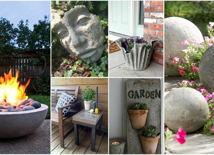 Awesome DIY Cement Projects To Enhance Your Outdoor Space