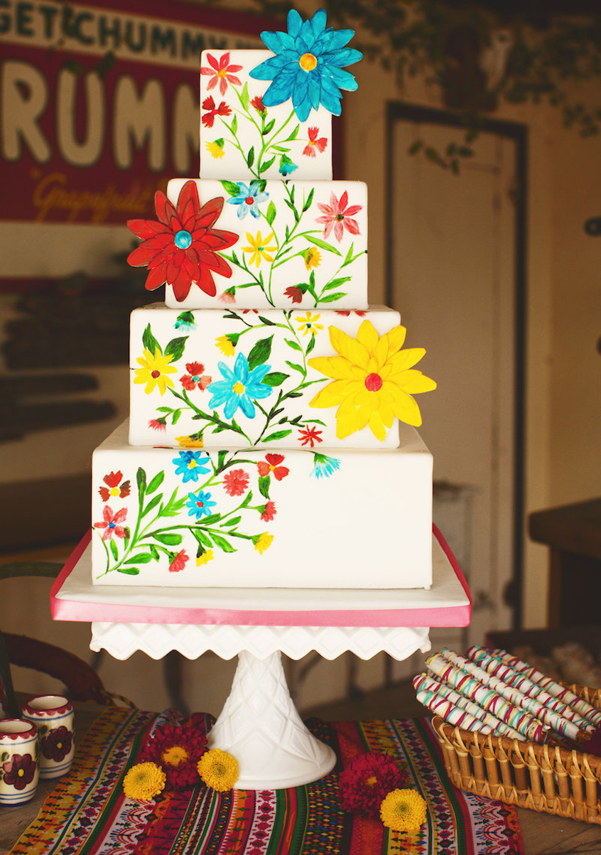 fiesta themed wedding cake mexican wedding cake ideas that are so colorful 14226
